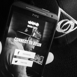 Jay-Z Magna Carta Holy Grail album app seen running on HTC smartphone