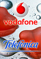 Vodafone and Telefónica shake hands