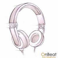 Play music & charge your phone on the go with the OnBeat Solar Headphones