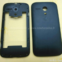 The Moto X rumor flood threatens to drown us, as images of the rear panel surface