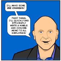 Humor: Ballmer announces a lean new Microsoft