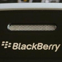 The back cover of the BlackBerry A10 is photographed in Vietnam