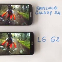 LG G2 caught on video, compared with Samsung Galaxy S4