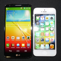 LG G2 vs Apple iPhone 5: first look
