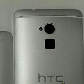 HTC One Max phablet poses for a family portrait, flashes a fingerprint sensor