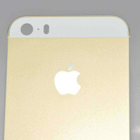 First high-res images of champagne gold Apple iPhone 5S shell surface