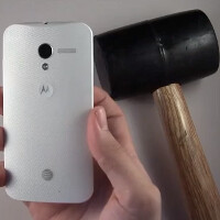 How well did the Motorola Moto X do against the keys, hammer and knife test?