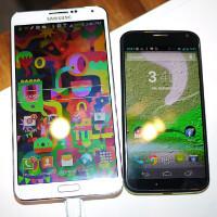 Samsung Galaxy Note 3 vs Motorola Moto X: first look