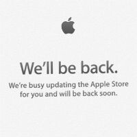 The Apple Store website is down, points to new products on sale today