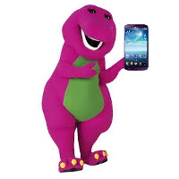 Barney, your purple Samsung Galaxy Mega 6.3 is official