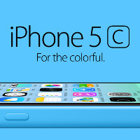 Blue iPhone 5c unboxed, fiddled with and powered on in a Chinese video