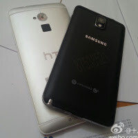 HTC One Max in a face-to-face with the Samsung Galaxy Note 3 in new snaps