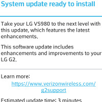 Verizon's LG G2 gets new software update