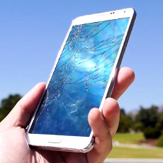 Samsung Galaxy Note 3 drop test goes crack (video)