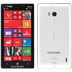 Nokia Lumia 929 leaks dolled up in white and Verizon logo