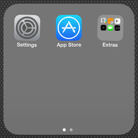 How to put a folder in a folder on iOS 7