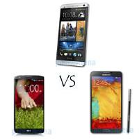 HTC One max vs Samsung Galaxy Note 3 vs LG G2: specs comparison