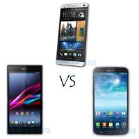 HTC One max vs Sony Xperia Z Ultra vs Samsung Galaxy Mega 6.3 specs comparison: phablet heat