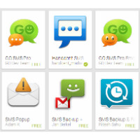 In Android 4.4 KitKat you must choose one SMS app to rule them all