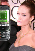 Angelina Jolie likes the Pre better than the iPhone?