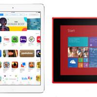 Apple iPad Air vs Nokia Lumia 2520 vs Samsung Galaxy Note 10.2 2014: specs comparison