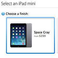 Space-gray Apple iPad mini hits the Apple Stores