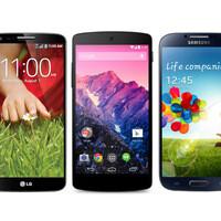 Google Nexus 5 vs LG G2, Samsung Galaxy S4: specs comparison
