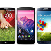 Google Nexus 5 vs LG G2, Samsung Galaxy S4: specs comparison