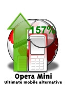 Number of Opera Mini users up with 157% year-to-year