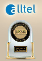 Alltel scores the highest rank in Overall Customer Satisfaction survey by J.D. Power
