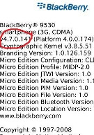 Leaked OS 4.7.0.141 for both 9500 and 9530 versions of the BlackBerry Storm