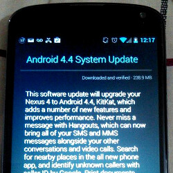 Nexus 4 KitKat update released, 240 MB OTA takes you from Android 4.3 to 4.4