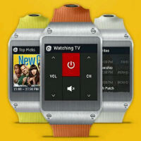 Galaxy Gear Smart Remote app is the keypad, but you still need a phone to be the IR blaster