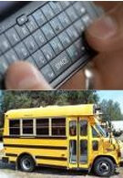 Texting while driving a bus don't mix