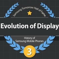 Samsung presents the evolution of its phone displays in new infographic