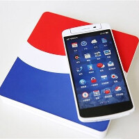Pepsi edition Oppo N1 shown in sweet detail