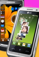 LG and Samsung have each sold 20 million touchscreen phones worldwide