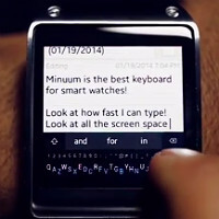 Minuum shows off its keyboard on a smartwatch