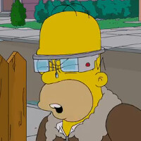 Homer Simpson dons Google Glass on Sunday's episode of The Simpsons