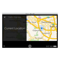 Video shows off mapping and search capabilities of Apple's iOS in the Car on a simulator