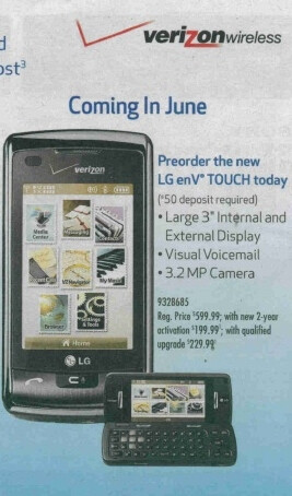 UPDATED LG enV3 and enV Touch coming to Best Buy