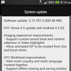 Old HTC Butterfly updated to Android 4.3 with Sense 5.5. Droid DNA to stick with 4.2.2 until KitKat arrives