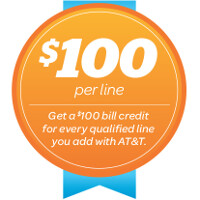 AT&T gives you $100 just for activating a new line