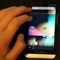 Video shows BlackBerry 10.2.1 powered BlackBerry Z30 running Android 4.2.2 and YouTube app