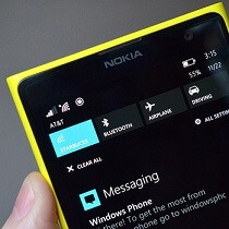 Windows Phone 8.1 'Action Center' notification center leaks