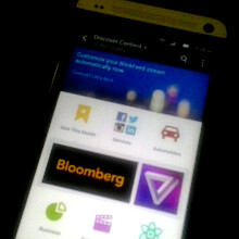 Blurry shot of the new Sense 6.0 BlinkFeed for HTC M8 leaks out, confirms on-screen buttons