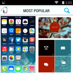 Themer got pulled from the Play Store because Apple didn't like the iOS style icons