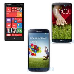 Nokia Lumia Icon vs Samsung Galaxy S4 vs LG G2 specs comparison