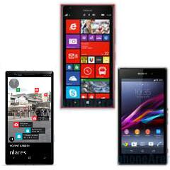Nokia Lumia Icon vs Lumia 1520 vs Sony Xperia Z1 specs comparison