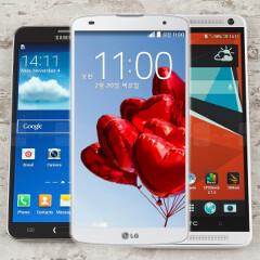 LG G Pro 2 vs Note 3 vs HTC One max specs comparison
